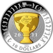Australia 10 Dollars President's Cup 2011 Proof KM# 1622 PRESIDENT'S CUP 20 11 .999AG 10 DOLLARS coin reverse