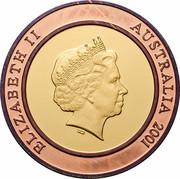 Australia 10 Dollars The Future 2001 KM# 593 ELIZABETH II AUSTRALIA 2001 IRB coin obverse