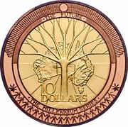 Australia 10 Dollars The Future 2001 KM# 593 THE FUTURE 10 DOLLARS THE MILLENNIUM SERIES coin reverse