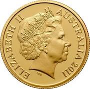 Australia 10 Dollars Two kangaroos 2011 Proof KM# 1522 coin obverse