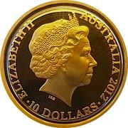 Australia 10 Dollars Year of the Dragon 2012 Proof KM# 1681 ELIZABETH II AUSTRALIA 2012 10 DOLLARS IRB coin obverse