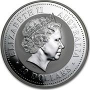 Australia 10 Dollars Year of the Goat 2003 KM# 710 ELIZABETH II AUSTRALIA 10 DOLLARS IRB coin obverse