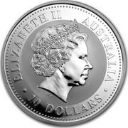 Australia 10 Dollars Year of the Snake 2001 KM# 539 ELIZABETH II AUSTRALIA 10 DOLLARS IRB coin obverse
