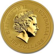 Australia 100 Dollars Australian Kangaroo 2007 P KM# 1779 ELIZABETH II AUSTRALIA • 100 DOLLARS • IRB coin obverse
