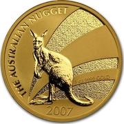 Australia 100 Dollars Australian Kangaroo 2007 P KM# 1779 THE AUSTRALIAN NUGGET 1 OZ 9999 GOLD 2007 coin reverse
