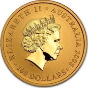Australia 100 Dollars Australian Kangaroo 2008 KM# 1775 ELIZABETH II AUSTRALIA 2008 100 DOLLARS IRB coin obverse