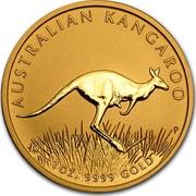 Australia 100 Dollars Australian Kangaroo 2008 KM# 1775 AUSTRALIAN KANGAROO 1 OZ. 9999 GOLD P RV coin reverse