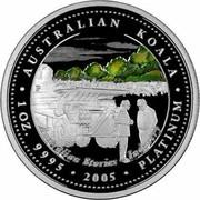 Australia 100 Dollars Australian Koala 2005 KM# 939 AUSTRALIAN KOALA 1 OZ. 9995 2005 PLATINUM AUSTRALIAN STORIES INDUSTRY P coin reverse