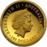 Australia 100 Dollars Australian Koala 2011 KM# 1608 ELIZABETH II AUSTRALIA 2011 100 DOLLARS IRB coin obverse