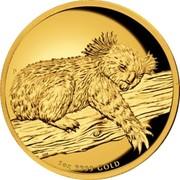 Australia 100 Dollars Australian Koala 2012 P Proof KM# 1845 1 OZ 9999 GOLD P AH coin reverse