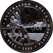 Australia 100 Dollars Australian Stories - Sports 2004 KM# 742 AUSTRALIAN KOALA 1 OZ. 9995 2004 PLATINUM AUSTRALIAN STORIES ~ SPORTS P coin reverse