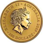 Australia 100 Dollars Kangaroo (constellation in background) 2009 KM# 1767 ELIZABETH II AUSTRALIA 2009 100 DOLLARS IRB coin obverse