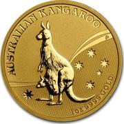 Australia 100 Dollars Kangaroo (constellation in background) 2009 KM# 1767 AUSTRALIAN KANGAROO 1 OZ 9999 GOLD P JG coin reverse