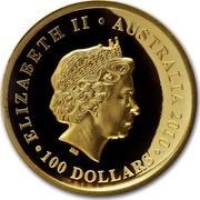 Australia 100 Dollars Koala on a branch 2010 KM# 1469 ELIZABETH II AUSTRALIA 2010 100 DOLLARS IRB coin obverse