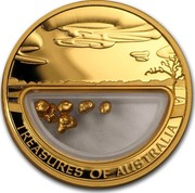 Australia 100 Dollars Treasures of Australia 2010 KM# 1436 TREASURED OF AUSTRALIA JG coin reverse