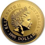 Australia 1000 Dollars Year of the Goat 2003 KM# 715 ELIZABETH II AUSTRALIA 1000 DOLLARS IRB coin obverse