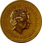 Australia 1000000 Dollars Australian Kangaroo 2012 KM# 1569 ELIZABETH II AUSTRALIA 1000000 DOLLARS IRB coin obverse