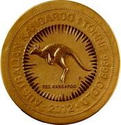Australia 1000000 Dollars Australian Kangaroo 2012 KM# 1569 AUSTRALIAN KANGAROO 1 TONNE 9999 GOLD 2012 RED KANGAROO P coin reverse