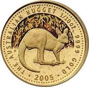 Australia 15 Dollars Australian Kangaroo 2005 KM# 911 THE AUSTRALIAN NUGGET 2015 1/10 OZ. 9999 GOLD coin reverse