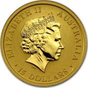 Australia 15 Dollars Australian Kangaroo 2010 KM# 1362 ELIZABETH II AUSTRALIA 15 DOLLARS IRB coin obverse