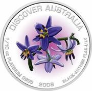 Australia 15 Dollars Discover Australia - Black-Anther Flax-Lily 2008 KM# 1201 DISCOVER AUSTRALIA 1/10 OZ PLATINUM 9995 2008 BLACK-ANTHER FLAX-LILY coin reverse