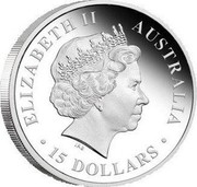 Australia 15 Dollars Discover Australia - Emu 2011 KM# 1538 ELIZABETH II AUSTRALIA 15 DOLLARS IRB coin obverse