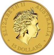 Australia 15 Dollars Discover Australia - Frilled Neck Lizard 2010 KM# 1401 ELIZABETH II AUSTRALIA 15 DOLLARS IRB coin obverse