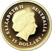 Australia 15 Dollars Emu 2006 Proof KM# 957 ELIZABETH II AUSTRALIA 15 DOLLARS IRB coin obverse
