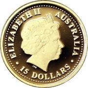 Australia 15 Dollars Grey Kangaroo 2006 Proof KM# 954 ELIZABETH II AUSTRALIA 15 DOLLARS IRB coin obverse