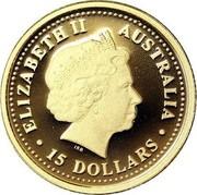 Australia 15 Dollars Koala 2006 Proof KM# 960 ELIZABETH II AUSTRALIA 15 DOLLARS IRB coin obverse