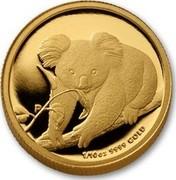 Australia 15 Dollars Koala on branch 2010 KM# 1468 1/10 OZ 9999 GOLD P coin reverse