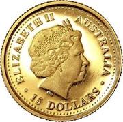 Australia 15 Dollars Kookaburra 2006 Proof KM# 963 ELIZABETH II AUSTRALIA 15 DOLLARS coin obverse