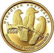 Australia 15 Dollars Kookaburra 2006 Proof KM# 963 DISCOVER AUSTRALIA 2006 KOOKABURRA 1/10OZ. 9999 GOLD coin reverse
