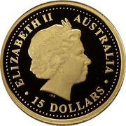 Australia 15 Dollars Platypus 2007 Proof KM# 978 ELIZABETH II AUSTRALIA ∙ 15 DOLLARS ∙ IRB coin obverse