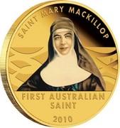 Australia 15 Dollars Saint Mary MacKillop 2010 KM# 1492 SAINT MARY MACKILLOP FIRST AUSTRALIAN SAINT 2010 P coin reverse