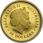 Australia 15 Dollars Saltwater Crocodile 2006 Proof KM# 951 ELIZABETH II AUSTRALIA 15 DOLLARS IRB coin obverse