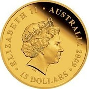 Australia 15 Dollars Sitting Koala 2009 KM# 1114 ELIZABETH II AUSTRALIA 2009 15 DOLLARS IRB coin obverse