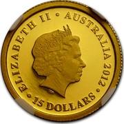 Australia 15 Dollars Sleeping Koala 2012 Proof KM# 1844 ELIZABETH II AUSTRALIA 2012 15 DOLLARS IRB coin obverse