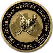 Australia 15 Dollars The Australian Nugget 2002 KM# 894 THE AUSTRALIAN NUGGET 1/10 OZ. 9999 GOLD 2002 coin reverse