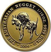 Australia 15 Dollars The Australian Nugget 2003 KM# 902 THE AUSTRALIAN NUGGET 1/10 OZ. 9999 GOLD 2004 coin reverse