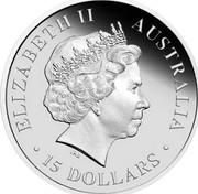 Australia 15 Dollars Whale shark 2012 P Proof KM# 1850 ELIZABETH II AUSTRALIA ∙ 15 DOLLARS ∙ IRB coin obverse