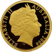 Australia 150 Dollars Red-tailed black cockatoo 2006 Proof KM# 873 ELIZABETH II AUSTRALIA 2006 coin obverse