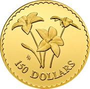 Australia 150 Dollars Royal Blue Bell flowers 2003 Proof KM# 872 coin reverse