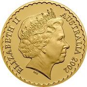 Australia 150 Dollars State Floral Emblems. Sturt's Desert Rose 2002 B Proof KM# 658 ELIZABETH II AUSTRALIA 2002 IRB coin obverse