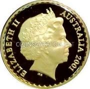 Australia 150 Dollars Wattle Flower 2001 KM# 644 ELIZABETH II AUSTRALIA 2001 IRB coin obverse