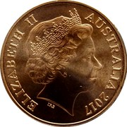 Australia 2 Cents Kangaroo Stuart Devlin 2017 Uncirculated ELIZABETH II AUSTRALIA 2017 IRB coin obverse
