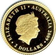 Australia 2 Dollars 2010 FIFA World Cup - South Africa 2009 P Proof KM# 1246 ELIZABETH II AUSTRALIA 2009 2 DOLLARS coin obverse