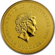 Australia 2 Dollars Australian Kangaroo 2011 KM# 1649 ELIZABETH II AUSTRALIA 2011 2 DOLLARS IRB coin obverse