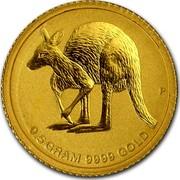 Australia 2 Dollars Australian Kangaroo 2011 KM# 1649 0.5 GRAM 9999 GOLD P coin reverse