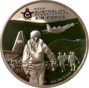 Australia 2 Dollars Australian Peacekeepers - Air Force 2005 P Proof KM# 757 2005 AUSTRALIAN PEACEKEEPERS AIR FORCE 2 OZ. 999 SILVER coin reverse